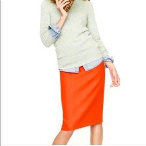 "EUC J Crew ""The Pencil Skirt"" bright red Sz 6"